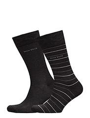 Twopack Fine Stripe - CHARCOAL