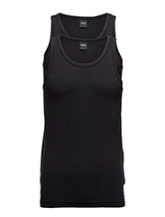 Tank Top 2P CO/EL - BLACK