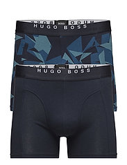 Boxer Brief 2P Print - OPEN BLUE