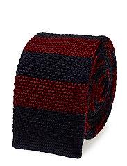 Tie 5 cm knitted - MEDIUM RED