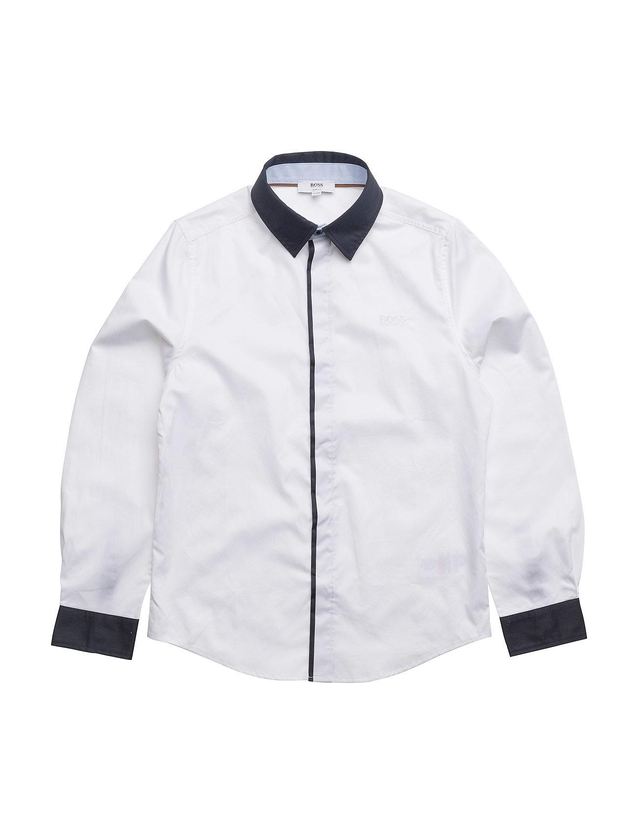 Long Sleeved Shirt BOSS  til Børn i hvid