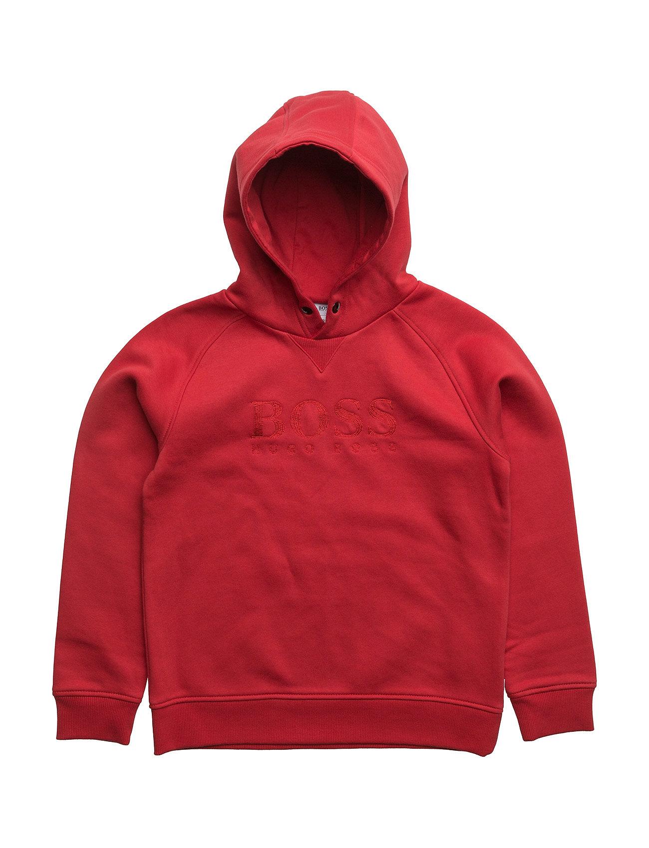 Hooded Sweatshirt BOSS  til Børn i Rød