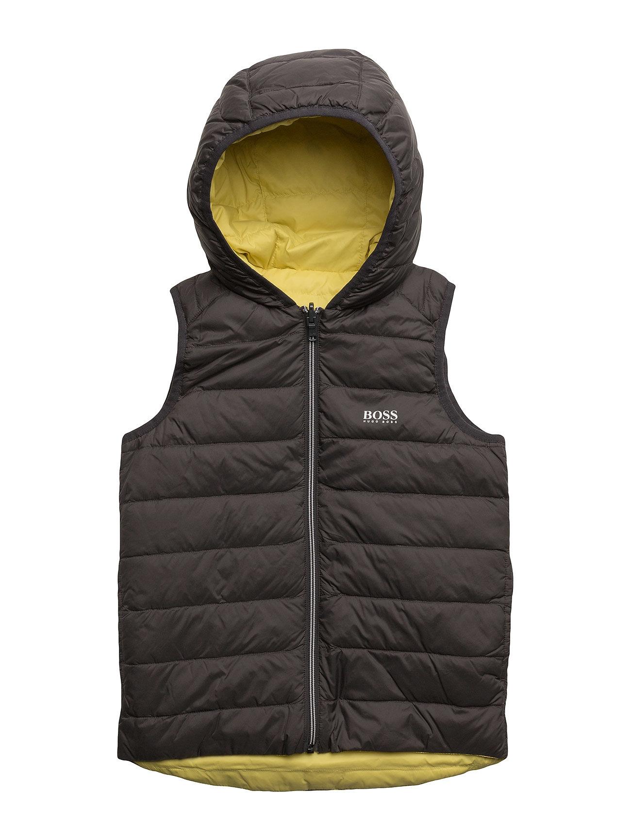Puffer Jacket BOSS Udendørs  veste til Børn i Mørkegrå