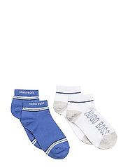 SOCKS (2) - WHITE  BLUE
