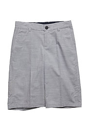 BERMUDA SHORTS - GREY  WHITE