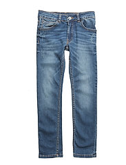 DENIM TROUSERS - DBLE STONE+BROSSAGE