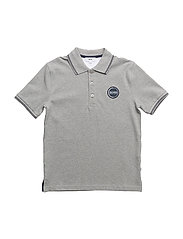 SHORT SLEEVE POLO - GREY MARL