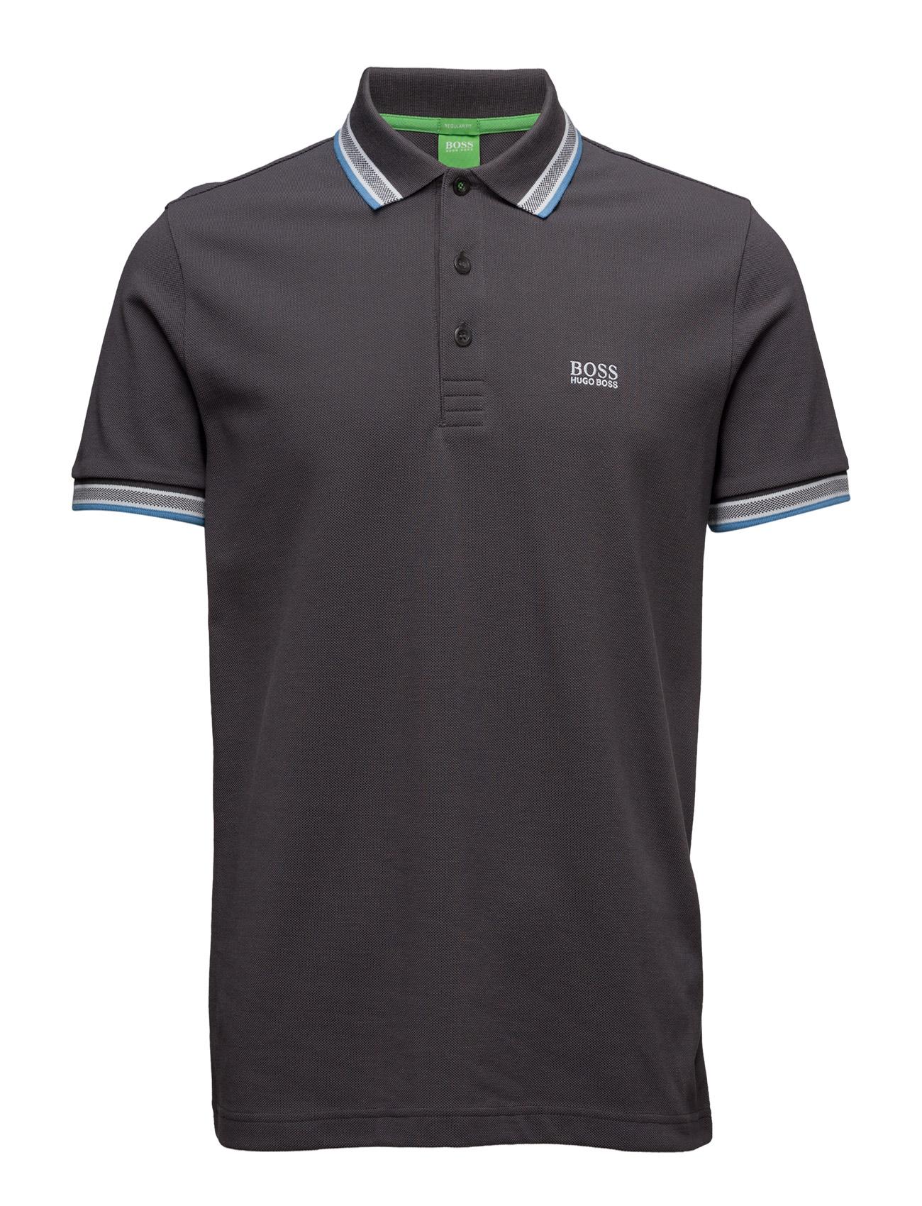 Paddy BOSS GREEN Kortærmede polo t-shirts til Herrer i Trækul