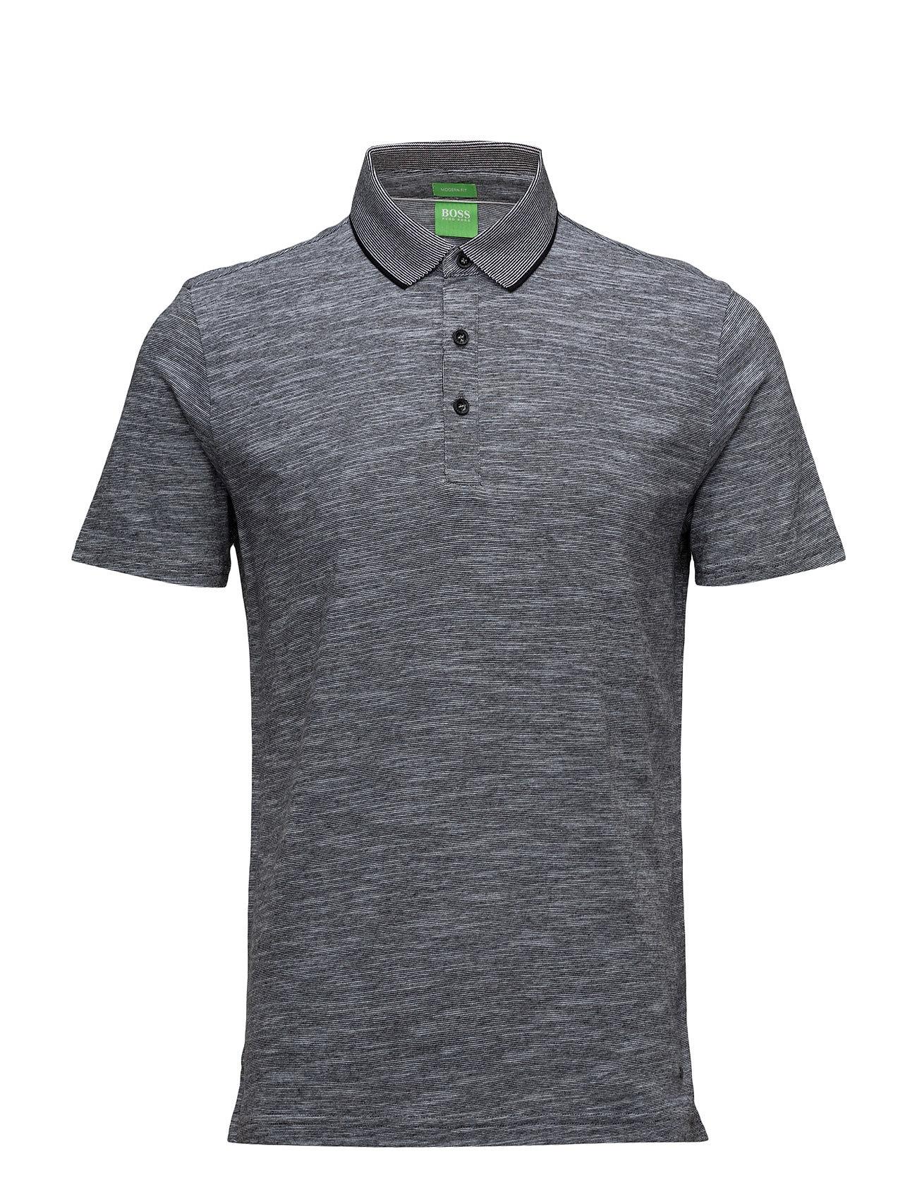 C-Rapino BOSS GREEN Kortærmede polo t-shirts til Mænd i Sort