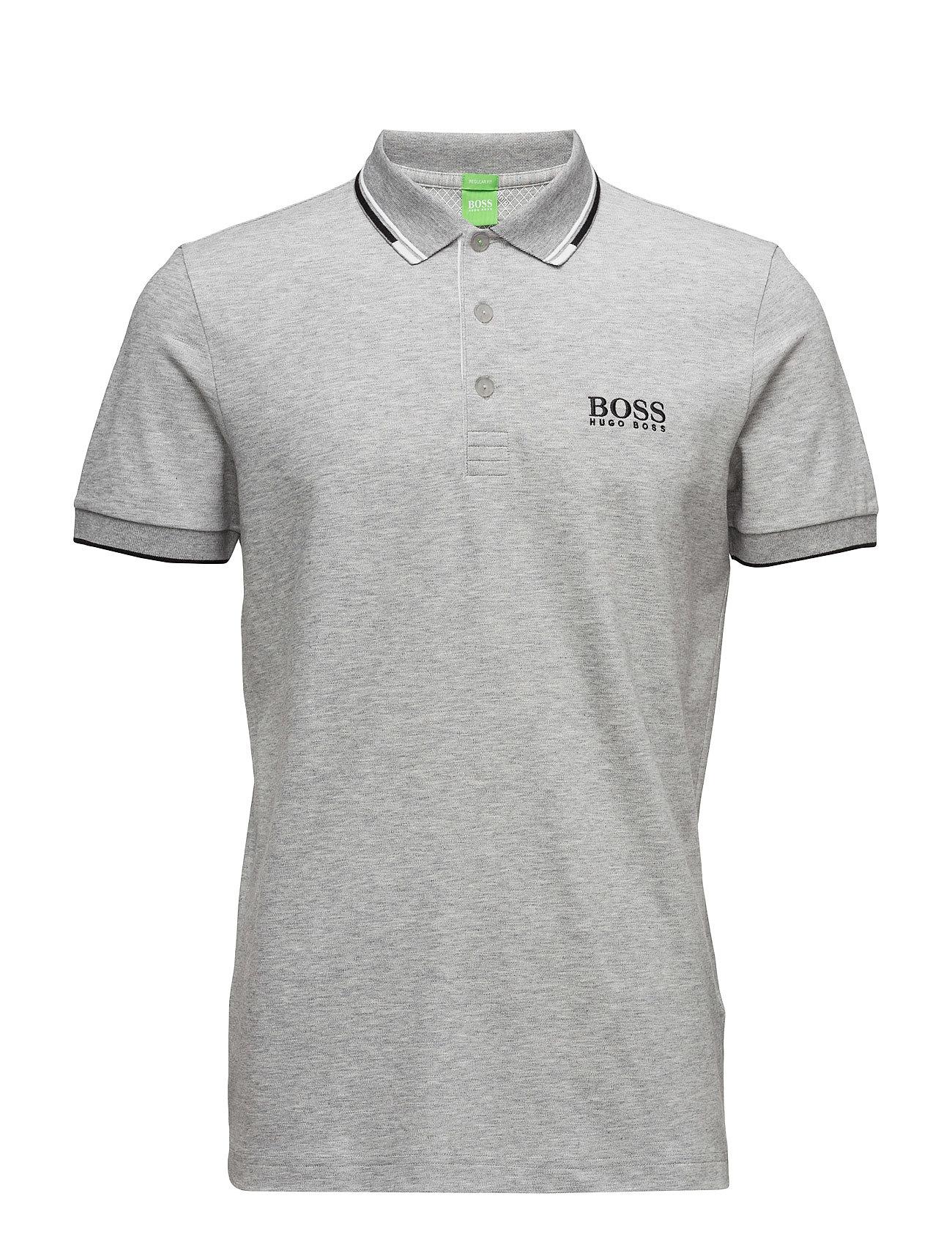 Paddy Pro BOSS GREEN Kortærmede polo t-shirts til Herrer i Open Grey