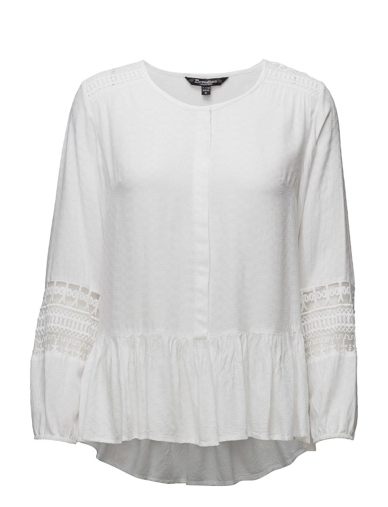 Shirt L/S Woven Brandtex Langærmede til Damer i hvid