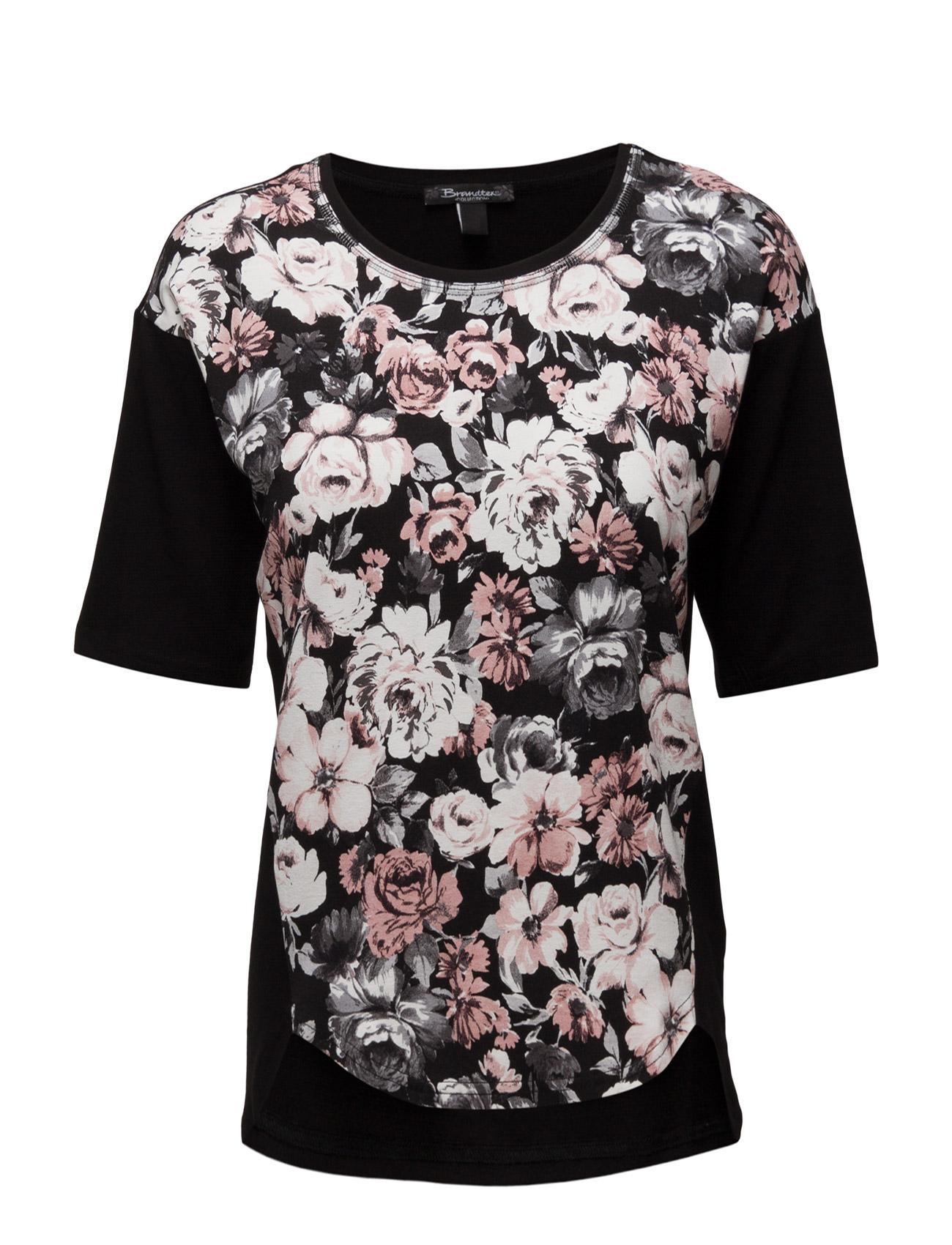 T-Shirt Brandtex Kortærmede til Damer i Sort