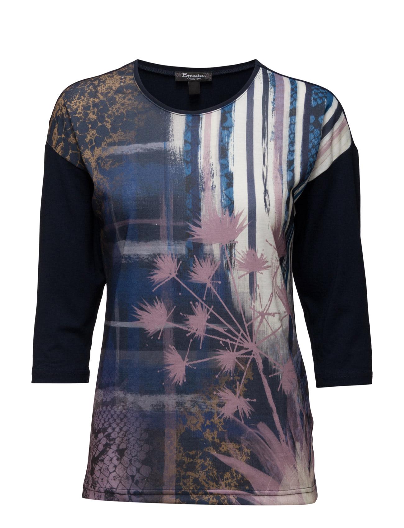 T-Shirt Brandtex Langærmede til Damer i Midnight blå