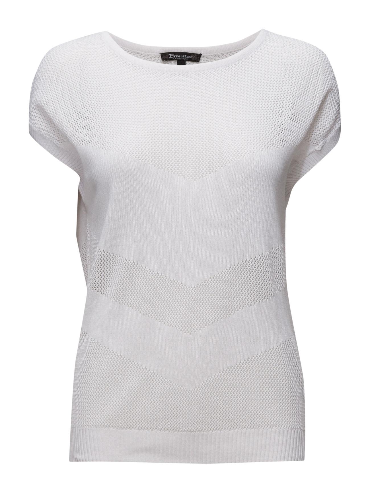 Pullover Brandtex Kortærmede til Damer i hvid