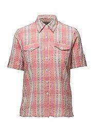Shirt s/s Woven - FLAMINGO