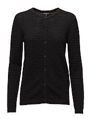 Cardigan-knit Heavy - BLACK