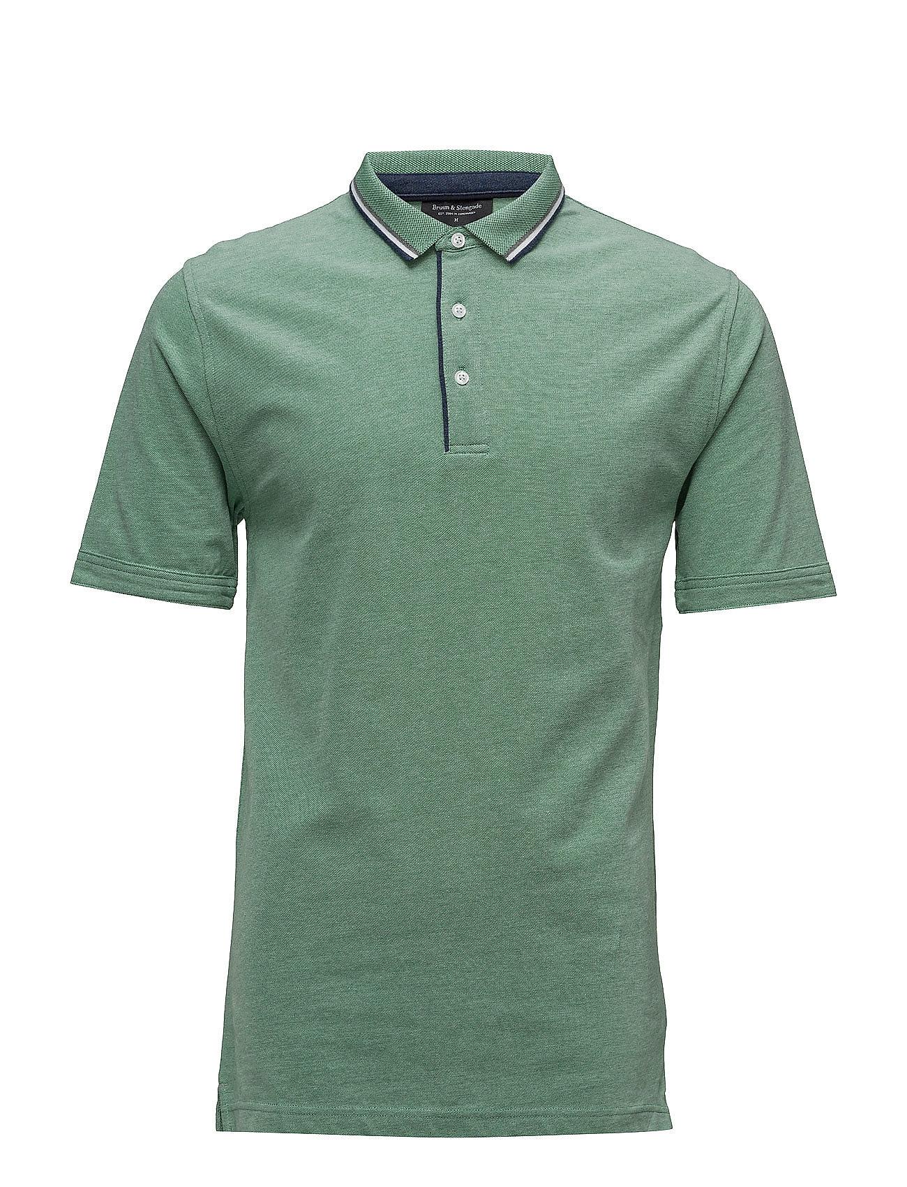 Liam Bruun & Stengade Kortærmede polo t-shirts til Herrer i Grøn