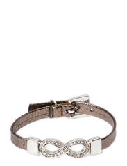 Infinity leather - Silver