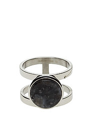 Marble ring - SILVER