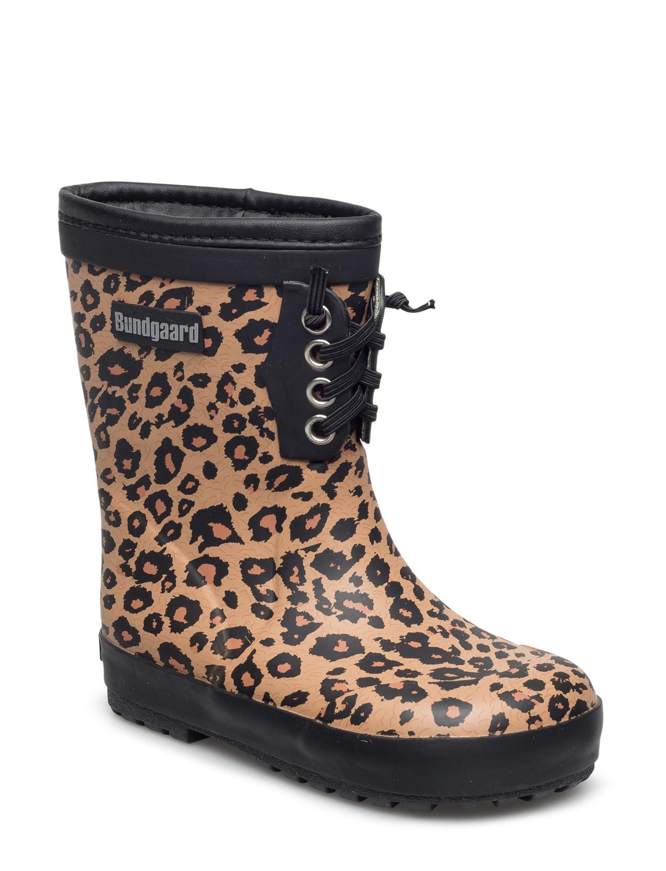 Classic Rubber Boots Warm Bundgaard Gummistøvler til Børn i Leopard