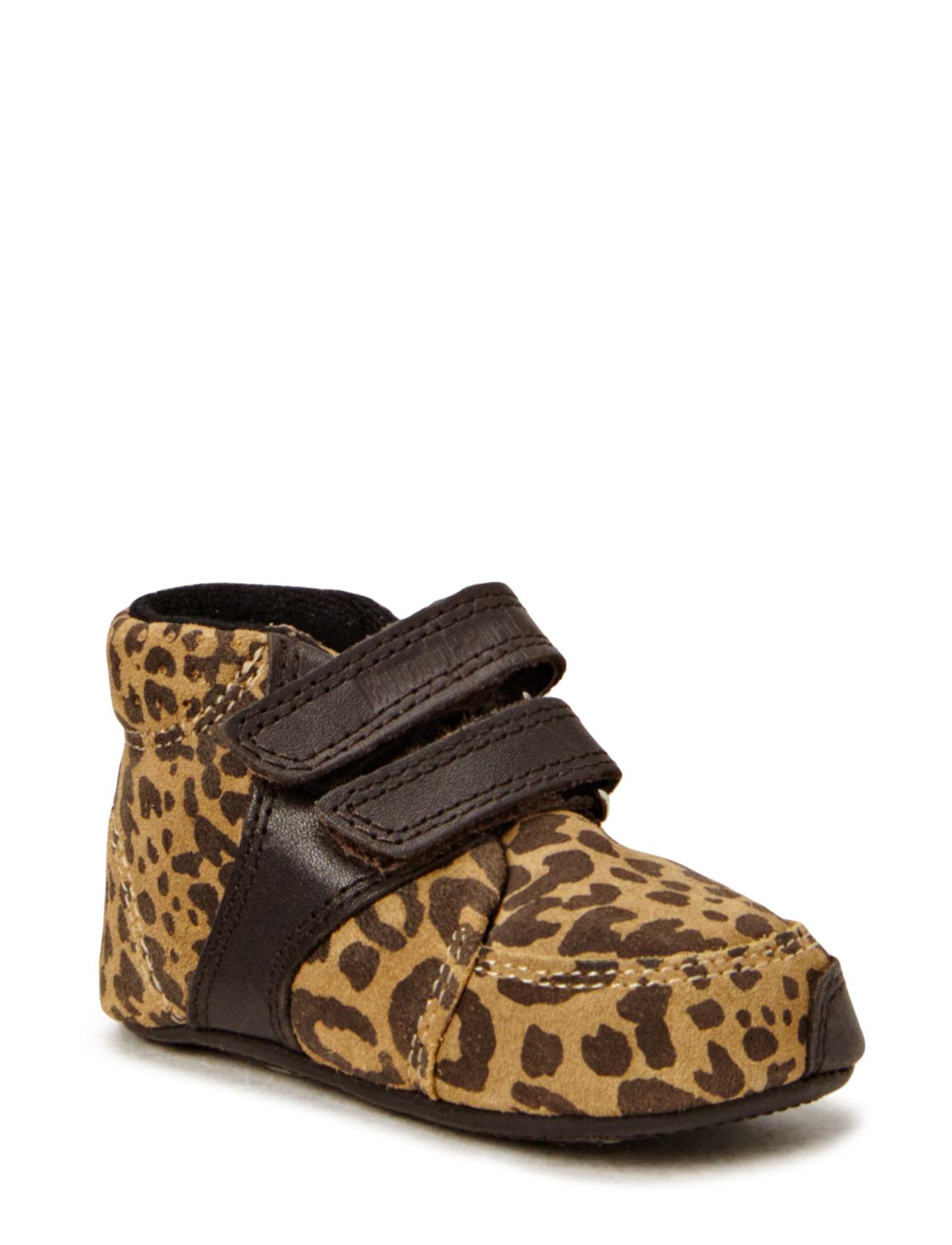 Animal Print Velcro Beige/Brn Prewalker Bundgaard Sko & Sneakers til Børn i