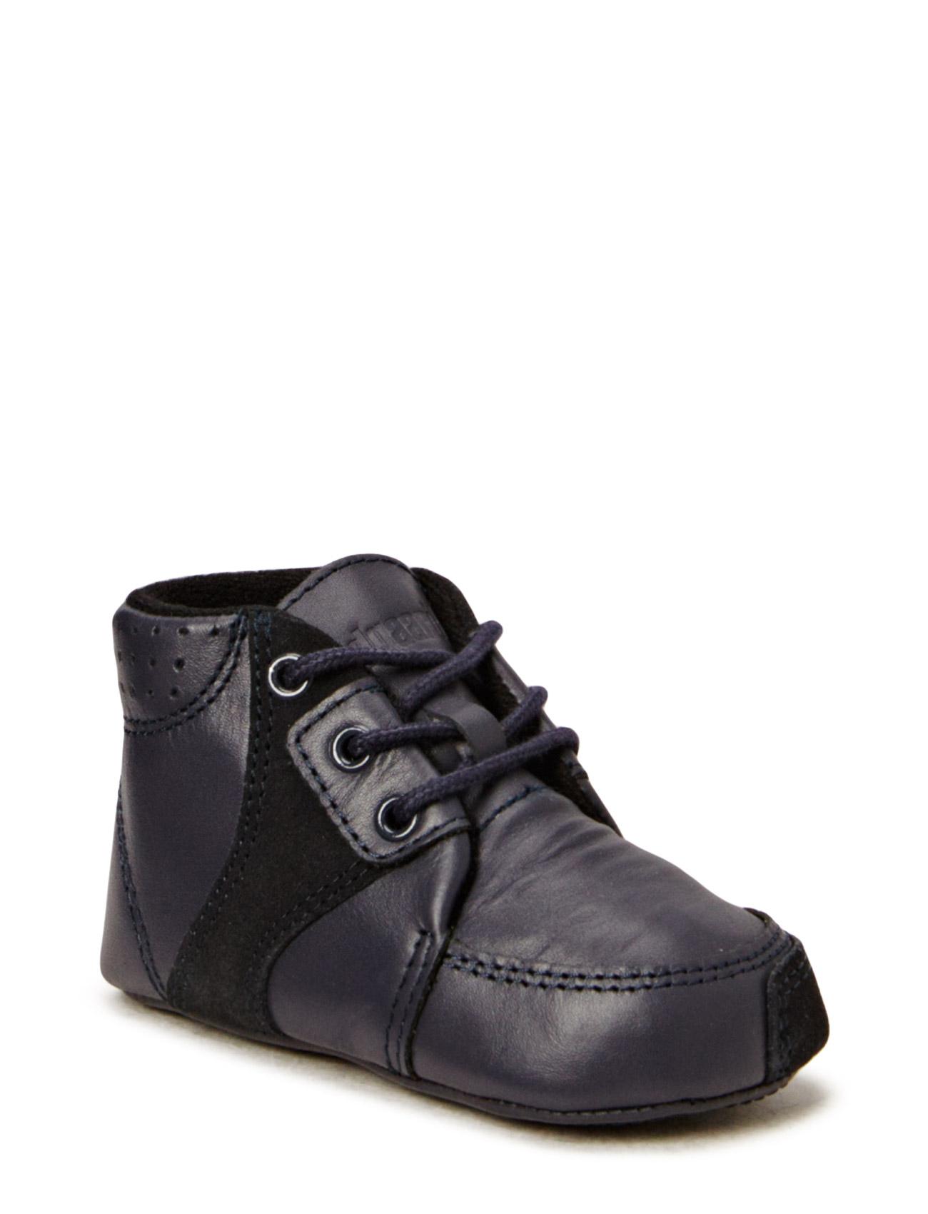 Prewalker Navy W/Lace Bundgaard Sko & Sneakers til Børn i Navy blå