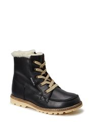 Terry Boot with laces - Black