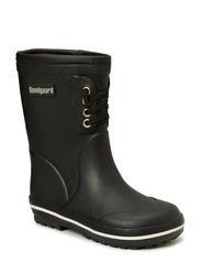 Rubber Boot with warm lining - Black