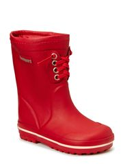 Rubber Boot with warm lining - Red