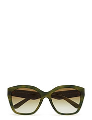 WOMEN'S SUNGLASSES - STRIPED GREEN