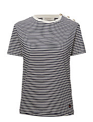 Toulon Stripe T-shirt - MARIN/WHITE