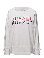 Rochelles text sweatshirt - WHITE