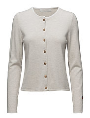 Kee cardigan - LIGHT BEIGE WITH WHITE LINE