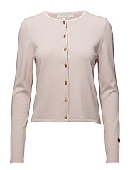 Kee cardigan - LIGHT PINK WITH WHITE LINE