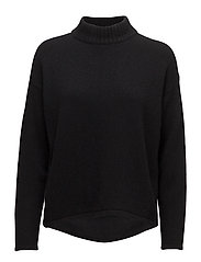 Calais turtle neck sweater - BLACK