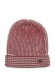 Crisson hat - BORDEAUX- OFFWHITE
