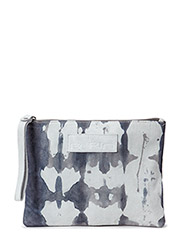 Dip dye suede clutch - Light Grey