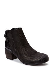 Erin heeled boot with cut outs - Black suede