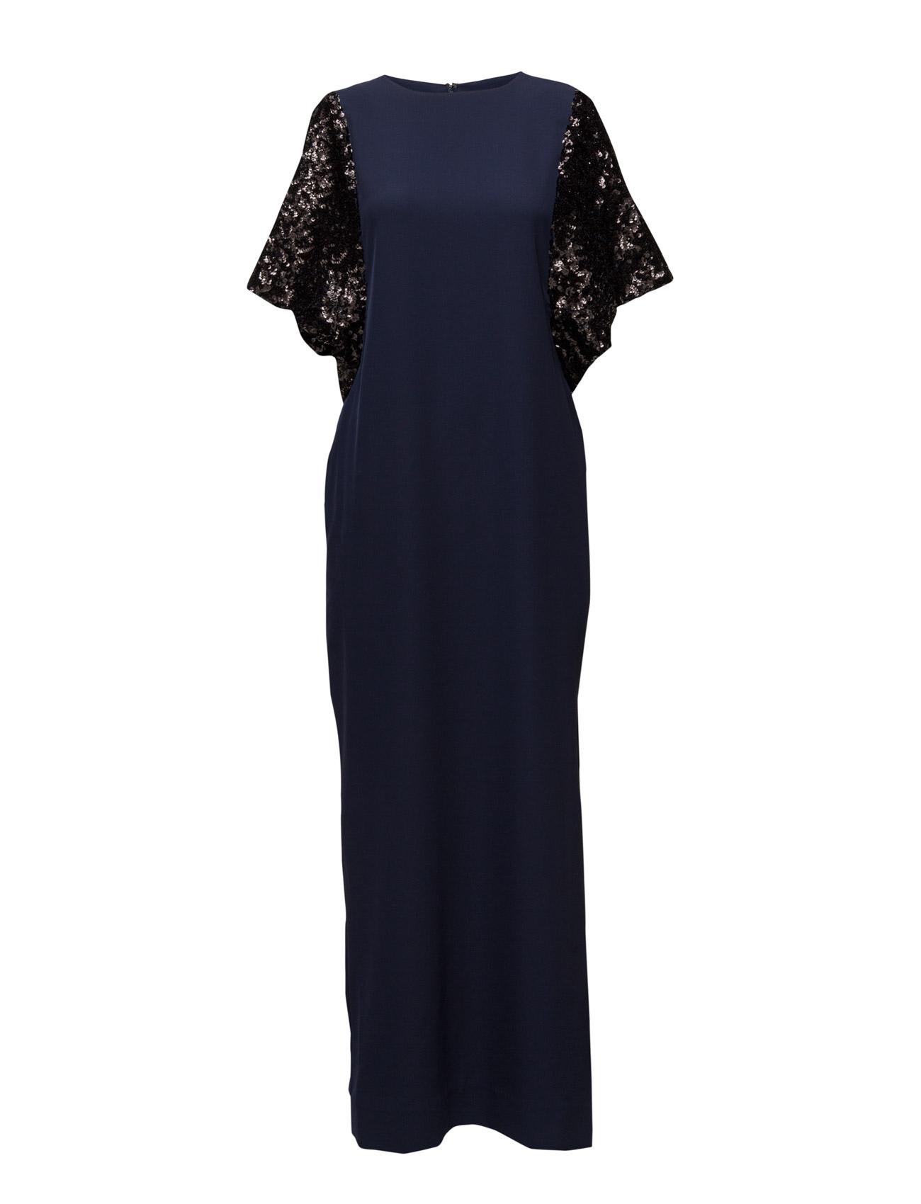 malene birger kjole glimmer, by malene birger sort skinn