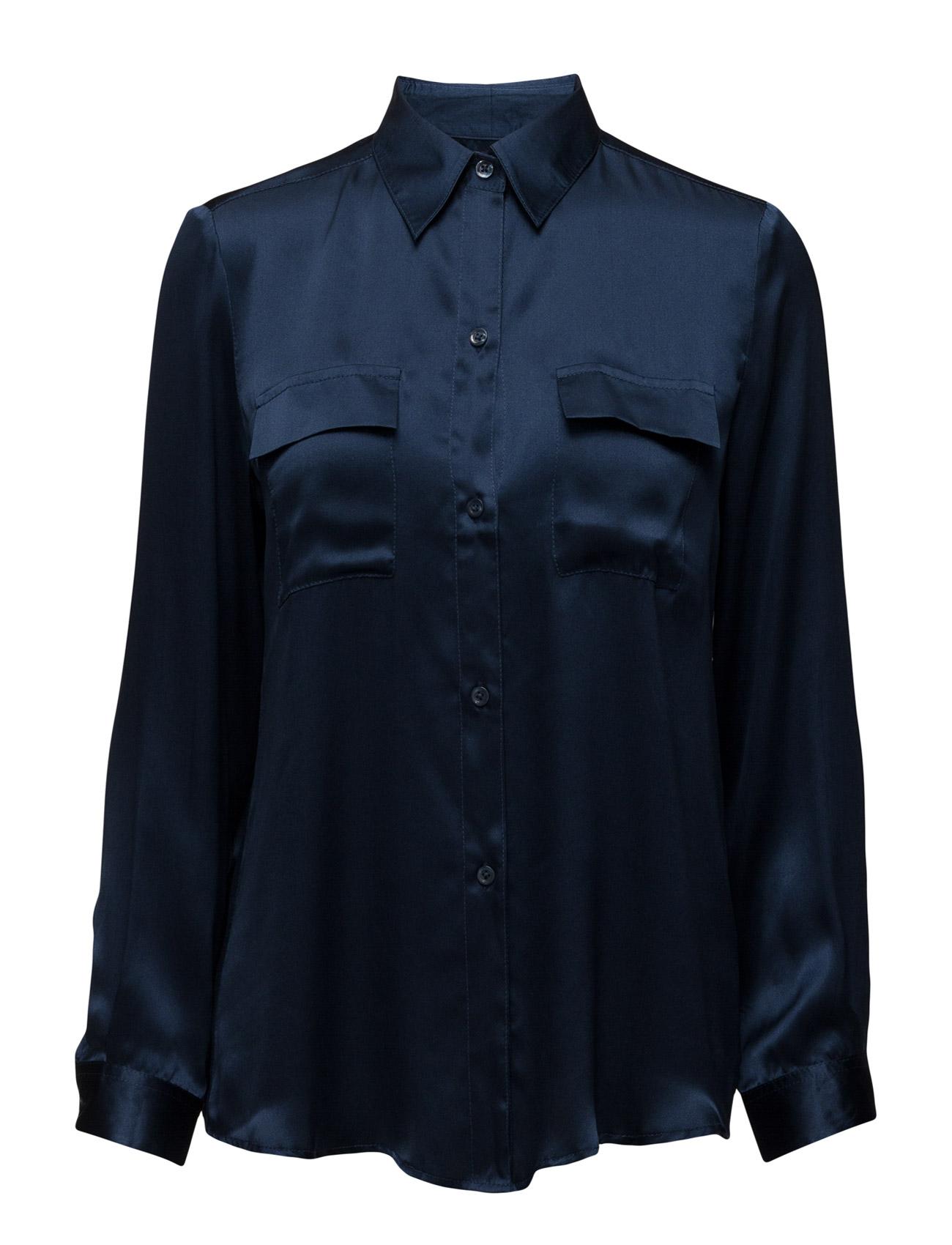 Nicolina Shirt By Malina Langærmede til Kvinder i Mørkeblå