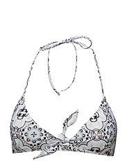 Formentera bikini top - AZURE MOSAIC