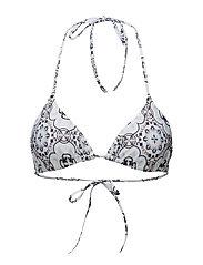 Tulum bikini top - AZURE MOSAIC