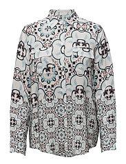 Nicolina shirt - AZURE MOSAIC