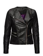 Glade leather jacket - BLACK