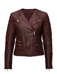 Glade leather jacket - ROSEWOOD