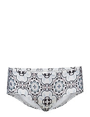 Byron bikini bottom - AZURE MOSAIC