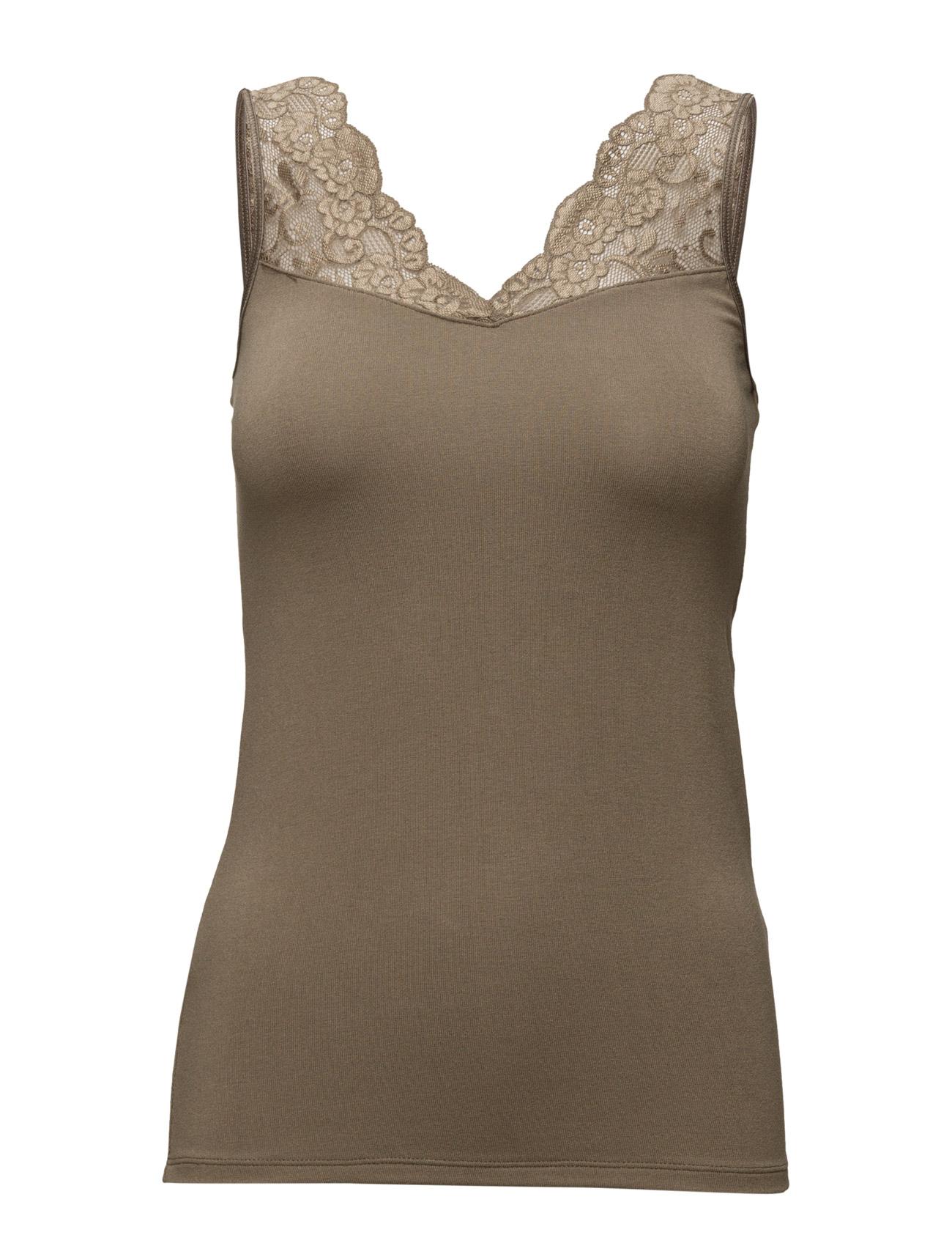 Lingerie Singlet by Ti Mo Loungewear til Kvinder i Vintage White