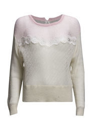 Airy Cropped Sweater - Vintage pink