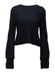 Soft Cropped Jumper - MARINE