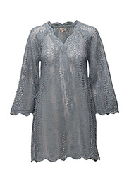 Lace A-Line Dress - DOVE